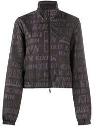 all-over logo print jacket