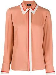 contrasting trim shirt