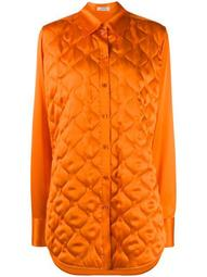 quilted longline shirt