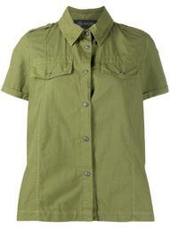 pleat-detail short sleeve shirt