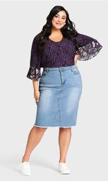 Denim Stretch Skirt - light wash