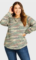 Camo Long Sleeve Tee - green