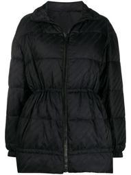 Chain logo-print puffer jacket