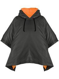 short-sleeve hooded jacket