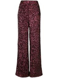 all over sequin wide leg trousers