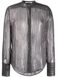 metallic stripe shirt