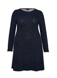 **DP Curve Navy Spot Dress