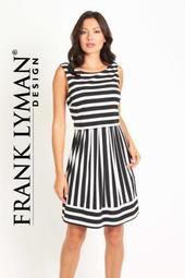 Striped Black White Dress