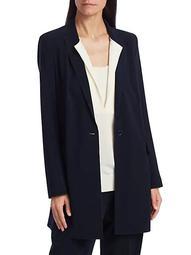 Oversized Long-Line Blazer Coat