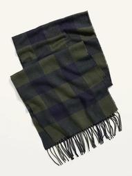 Cozy Flannel Gender-Neutral Scarf for Men & Women