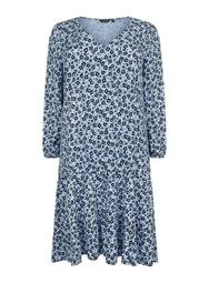 **DP Curve Blue Floral Smock Dress