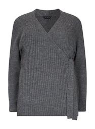 **DP Curve Charcoal Wrap Cardigan