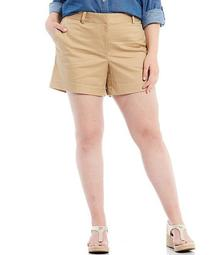 MICHAEL Michael Kors Plus Size Classic Stretch Twill Cotton-Blend Shorts