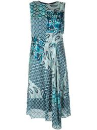 Azure multi-print dress