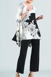 Clara Ivory-Print Tunic