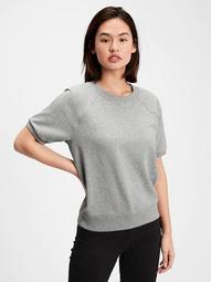 Fleece Short Sleeve Crewneck Sweatshirt