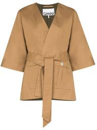 wrap-around V-neck kimono jacket