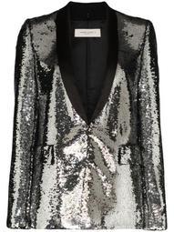 single-breasted sequin blazer