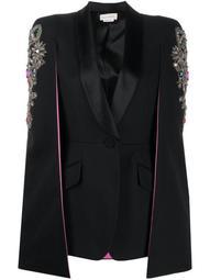 embellished cape-style blazer