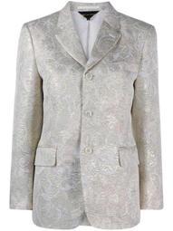 floral patterned buttoned blazer