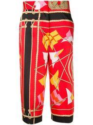 sail print trousers