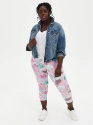 Crop Premium Legging - Watercolor Multi