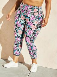 Pink & Purple Floral Wicking Active Legging