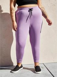 Relaxed Fit Jogger - Purple Cupro