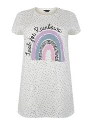 **DP Curve Rainbow Print T-Shirt