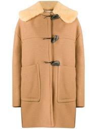 shearling collar duffle coat