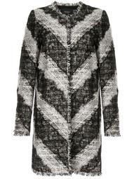 lace bouclé coat