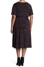 Knit Wrap Dress Zebra Print