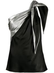 front tie draped vest