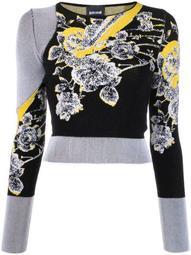 floral-jacquard sweater