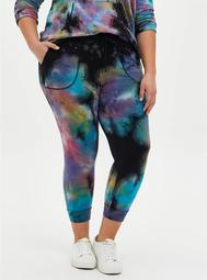 Classic Fit Jogger Terry Black Tie Dye