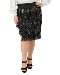 Sequin-Fringe Skirt