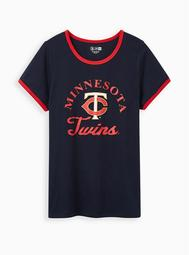 Classic Fit Ringer Tee - MLB Minneapolis Twins Navy