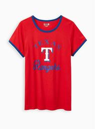 Classic Fit Ringer Tee - MLB Texas Rangers Red