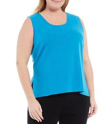 Plus Size Ming Wang Scoop Neck Washable Tank