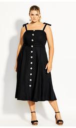 Precious Bow Dress - black