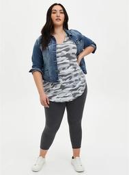Crop Premium Leggings - Heather Charcoal