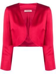 cropped open front jacket