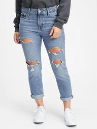 Mid Rise Destructed Universal Rigid Slim Boyfriend Jeans