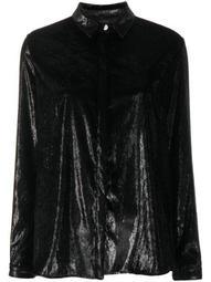 metallic effect shirt