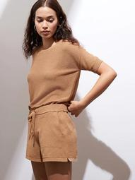UV Resistant Short-Sleeve Sweater