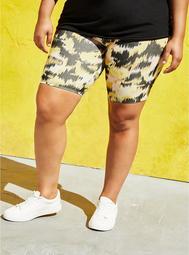 Ikat Camo Printed Bike Short