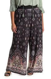 Geometric Print Wide Leg Pants