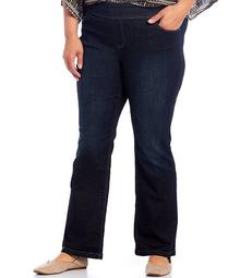 Plus Size the PARK AVE fit Denim Mid-Rise Bootcut Pants