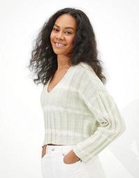 AE Tie-Dye V-Neck Sweater