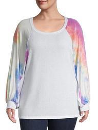 Plus Tie-Dyed Sweatshirt